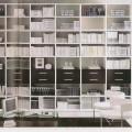 meuble bibliotheque avec tiroirs