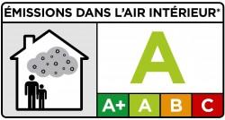 étiquette émission air intérieur peinture