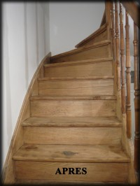 d caper un escalier en bois. Black Bedroom Furniture Sets. Home Design Ideas